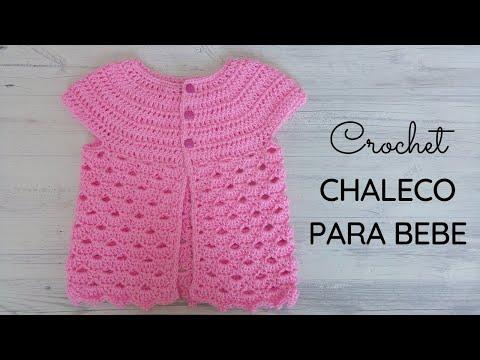 Chaleco a crochet para bebé