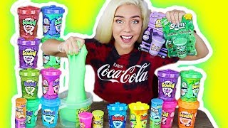 MIXING ALL MY STORE BOUGHT SLIMES 2!! WORST STORE BOUGHT SLIME EVER?! GIANT SLIME SMOOTHIE!