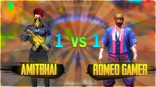 Amit Bhai VS Romeo Gamer || 1 vs 1 Clash Squad || Free Fire - Desi Gamers