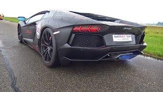 Lamborghini Aventador LP700 w/ Levella Exhaust! BLUE FLAMES & ACCELERATIONS!