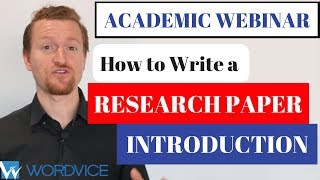 Wordvice Webinar: How to Write a Strong Introduction