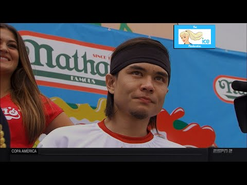 Matt Stonie Upsets Joey Chestnut at 2015 Nathan's Hot Dog Eating Contest | LIVE 7-4-15