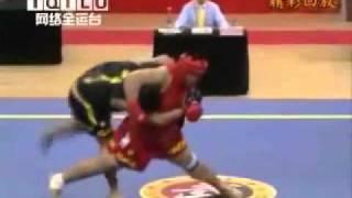 wushu sanda sanshou  takedowns chinese kickboxing