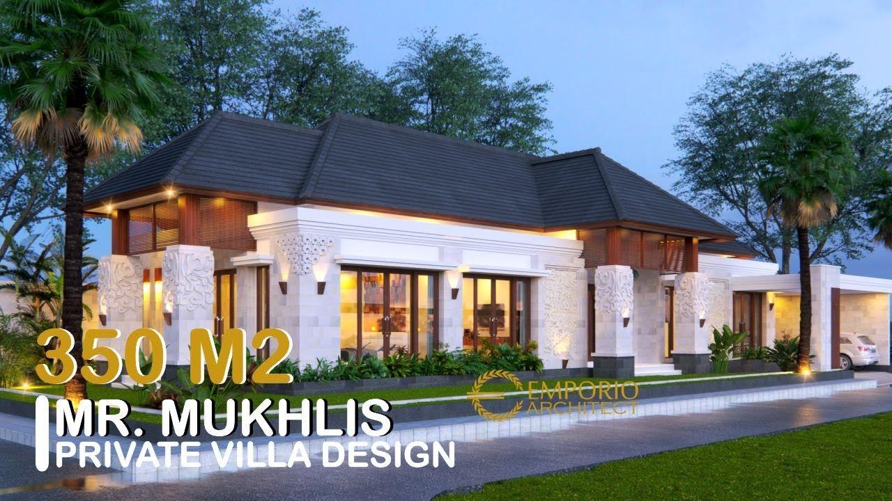 Video 3D Mr. Mukhlis Villa Bali House 1 Floor Design - Aceh