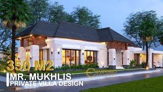 Video Desain Rumah Villa Bali 1 Lantai Bapak Mukhlis di  Aceh