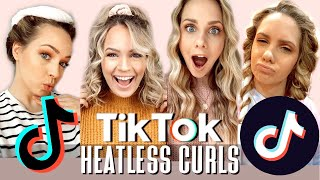 Hairstylist Tries TikTok Heatless Curls... AMAZED - Kayley Melissa