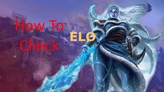 How To Check ELO In Smite