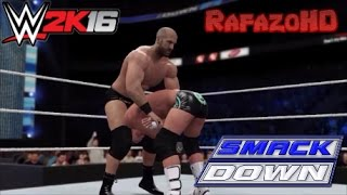 WWE 2K16 Simulation: Tyson Kidd vs Cesaro vs Dolph Ziggler - SmackDown 14/11/14 Highlights