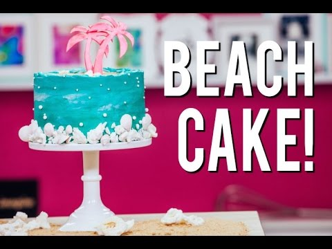 Video How To Make COCONUT BEACH CAKE With COCONUT CAKE, Buttercream, LEMON CURD and SUGAR SAND!