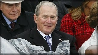 LOOK: WHAT GEORGE W. BUSH WAS SPOTTED DOING DURING TRUMP