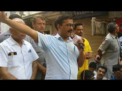 Delhi CM Arvind Kejriwal speaking on sealing issue at Gandhi Nagar Market