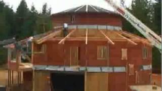 Процесс строительства современного загородного дома