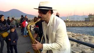 """DANCE MONKEY""   STREET SAX PERFORMANCE"