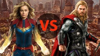 Тор против Капитана Марвел! Кто сильнейший супергерой в Marvel?