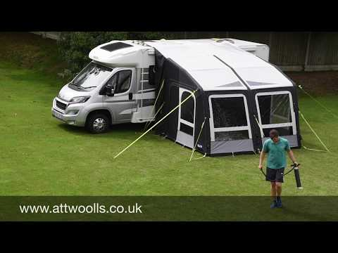 Kampa Motor Rally Air (Drive Away) Awning Pitching & Packing (Real Time) Video