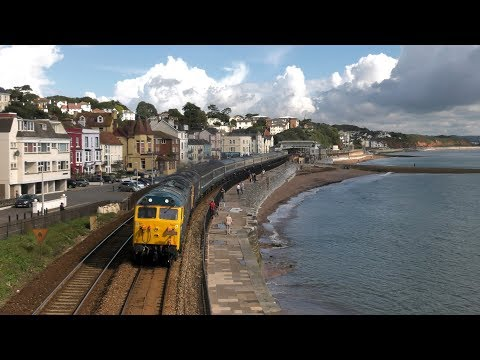 50007 'Hercules' 50049 'Defiance' at Dawlish with Pathfinder…