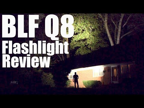BLF Q8 Flashlight Review.  The 5200 lumen Budget Light Forum Beer Can Torch.