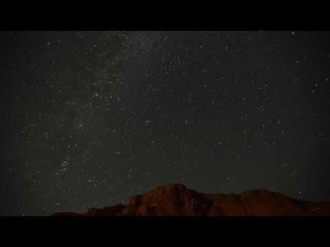 Time-lapse of Perseid meteor shower from rural Oregon