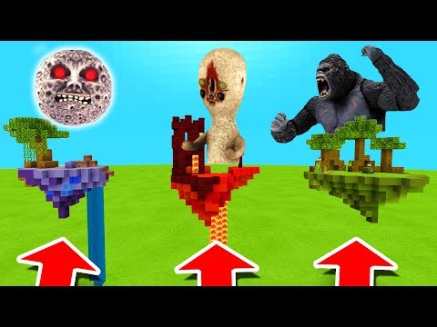 Minecraft PE : DO NOT CHOOSE THE WRONG ISLAND! (Lunar Moon, SCP-173 & King Kong)