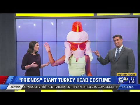 Giant turkey mask from 'Friends' available in online store