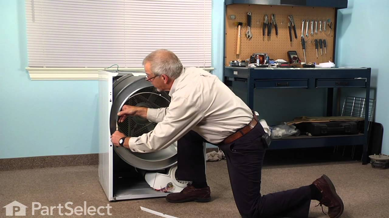 Replacing your Frigidaire Dryer Drum Glide - White