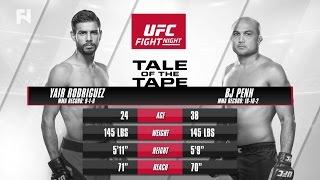Yair Rodriguez vs. BJ Penn Preview - Watch UFC Phoenix Prelims LIVE Sun. at 8 p.m. ET on FN Canada