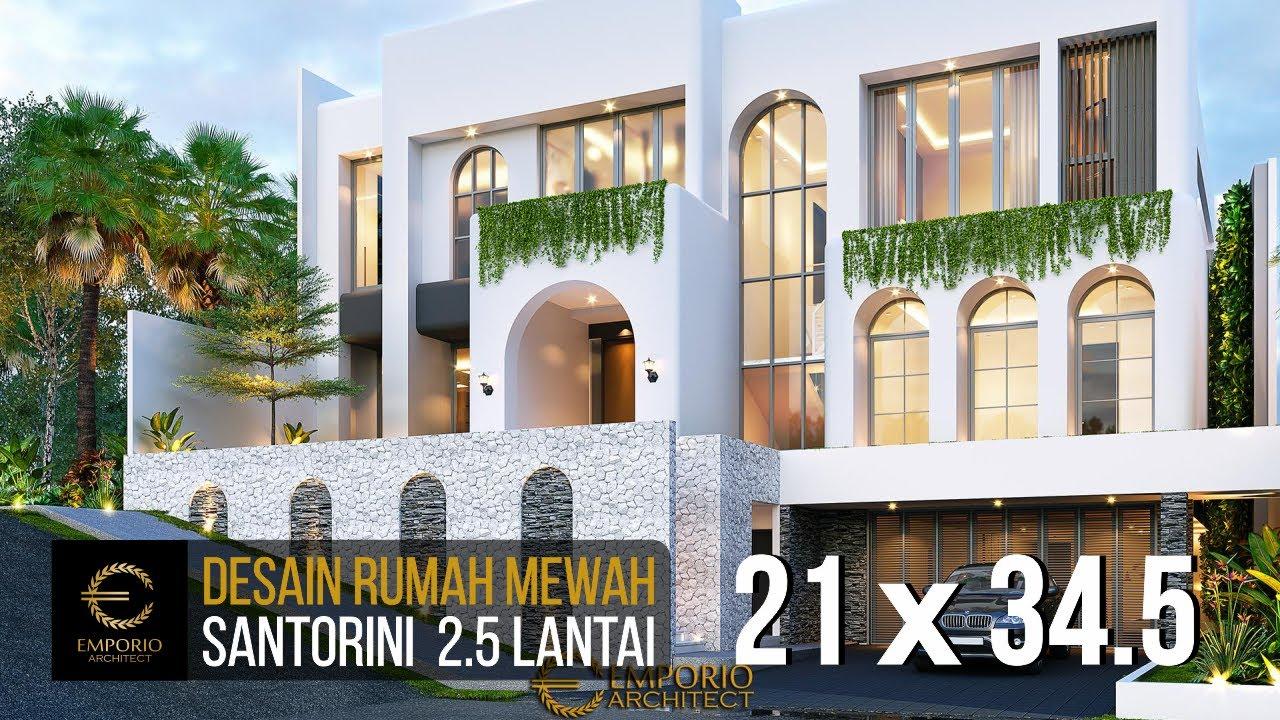 Video 3D Mrs. Linda Santorini House 2.5 Floors Design - Jakarta