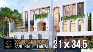 Video Desain Rumah Santorini 2.5 Lantai Ibu Linda di  Jakarta