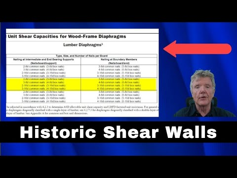 DIAGONAL BOARD SHEAR WALL - THE WAY THEY USED TO DO IT