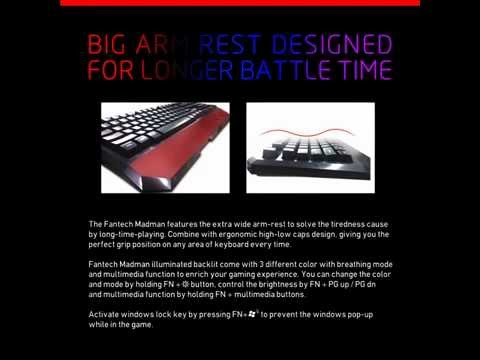 Fantech K11 Backlit Gaming Keyboard with Magnet booster for Desktop Laptop