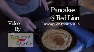 preview picture of video 'PANCAKE MAKING @ RED LION 17.2.15'