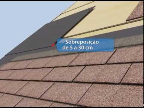 Montagem telhado shingle