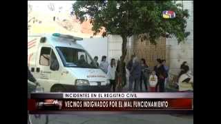 preview picture of video 'INCIDENTES EN EL REGISTRO CIVIL PERGAMINO'