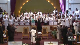 Inside the Coleman family funeral