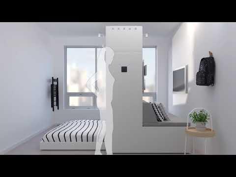 Роботизированная мебель IKEA для маленьких квартир