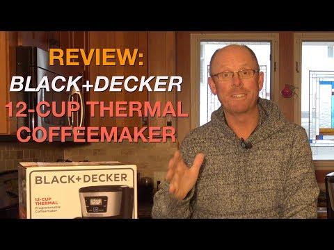 , BLACK+DECKER 12-Cup Thermal Coffeemaker, Black/Silver, CM2035B