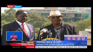 Kisii deputy governor Joash Maangi rejoins ODM after he had ditched the party for Jubilee