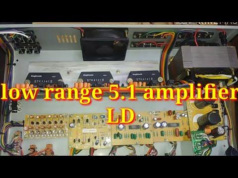 5 1 amplifier using stk 4141 ( mid range) - смотреть онлайн