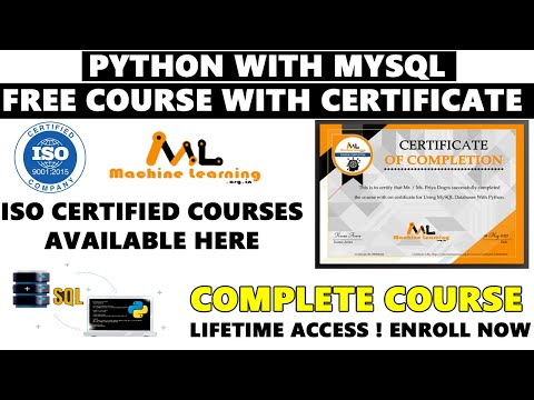 Python with My SQL Free Complete Course with Certificate | Free ...