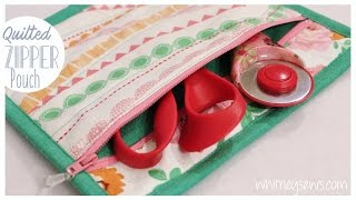Quilted Zipper Pouch | How To | Whitney Sews DIY