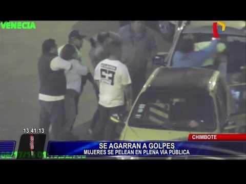 Chimbote: Cámaras de seguridad captan violenta pelea de mujeres