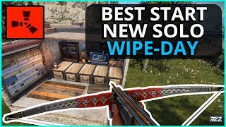 The BEST Start To A NEW Solo Wipeday! Rust Solo Survival Gameplay