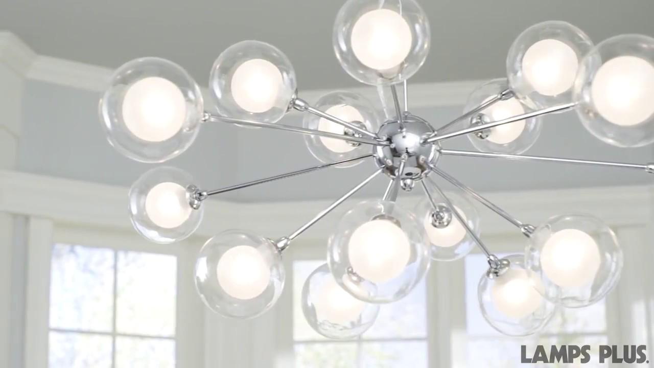 Possini Euro Design Glass Sphere 15-Light Pendant Chandelier