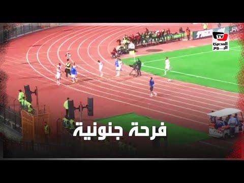 فرحة جنونية للاعبي الزمالك عقب إحراز مصطفى محمد هدف التقدم على بيراميدز
