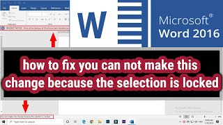 how to unlock Microsoft word 2016 that is locked