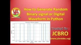How to generate Random Digital Waveform or Binary sequence using Python??