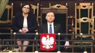 Andrzej Duda walczący ze snem :D