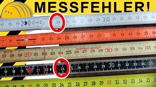 MESSFEHLER AB WERK? ZOLLSTOCK & BANDMASS im VERGLEICH   WERKZEUG NEWS 158