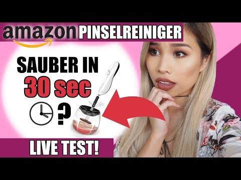 In 30 SEC SAUBERE & TROCKENE PINSEL?! Amazon PINSELREINIGER Live Test l Kisu