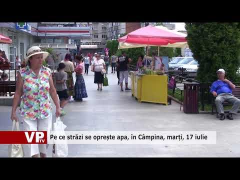 Pe ce străzi se oprește apa, în Câmpina, marți, 17 iulie